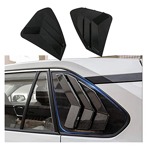 CAR EXTERIOR LOUVER INTAKE VENT COVER SCOOPS FOR TOYOTA RAV4 2019-2021 CAR 1 | 4 SIDE VENT WINDOW SCOOP LOUVER TRIM 1 PAIR HOOD SCOOPS