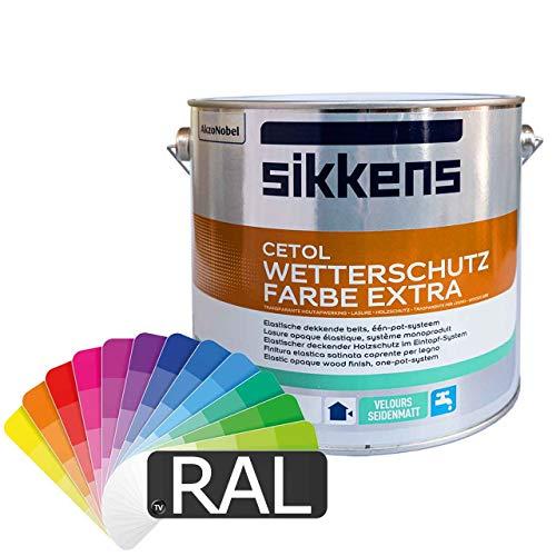Sikkens Cetol Wetterschutzfarbe (RAL-Farben) 2,5l - Holzschutzfarbe Holzfarbe