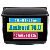 RoverOne Car Stereo Bluetooth Radio Unidad de Navegación GPS para Mitsubishi L200 Triton 2007-2014 Pajero Sport 2008-2015 con Pantalla Táctil Android USB DSP MirrorLink WiFi