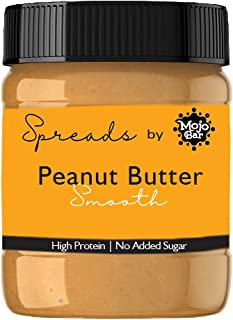 Mojo Bar Spreads - Peanut Butter Smooth, 400 Gm (High Protein, No Added Sugar or Oil, Vegan and Creamy)