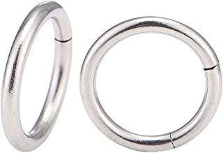 Chic-Net Piercing universale per piercing a segmento, in acciaio inox, color argento