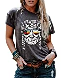 VKEGNIO Have a Willie Nice Day T Shirt Willie Nelson Graphic Tees for Women Summer Casual Vacation Shirts Short Sleeve Tops (Small, Grey)