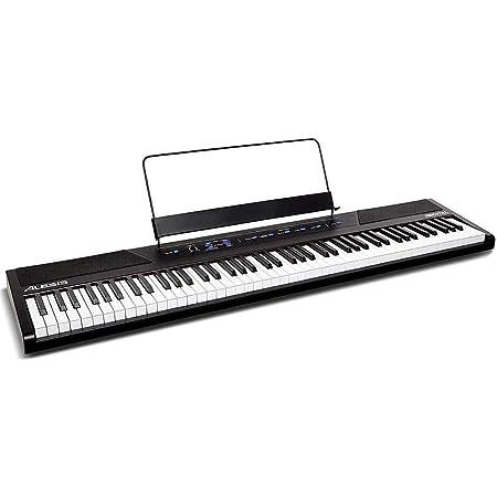 Alesis Recital - Piano Numérique / Clavier de 88 Touches Semi-Lestées de Taille Authentique, avec Un Adaptateur Secteur, des Enceintes Intégrées et 5 Voix Premium