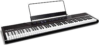 Alesis Recital - Teclado de Piano Digital con 88 Teclas Semi-contrapesadas de Tamaño Completo, Fuente de Alimentación, Altavoces Incorporados y 5 voces de Primera Calidad