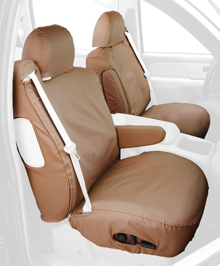 Covercraft SS2372PCTN Custom-Fit Front Bucket SeatSaver Seat Covers - Polycotton Fabric, Tan