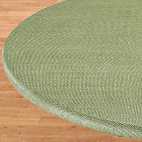 """LAMINET Elastic Fitted Table Cover - Basketweave (Green) - Oblong/Oval - Fits Tables up to 48 x 68"""""""
