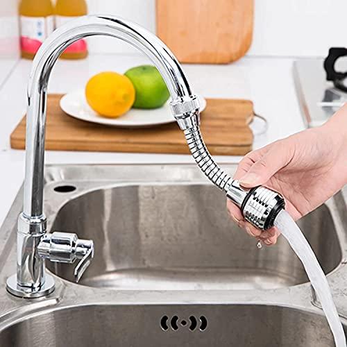 Aeratore Rubinetto 2510/S, Rompigetto per rubinetto cucina cannuccia flessibile in ottone cromato nero, doccetta per lavandino, Rompigetto Rubinetto, Risparmio d'Acqua
