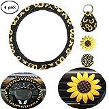 Sunflower Steering Wheel Cover for Women, Sunflower Steering...