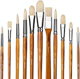 Best Oil Paint Brushes - Fuumuui 11pcs Professional Paint Brush Set, 100% Natural Review