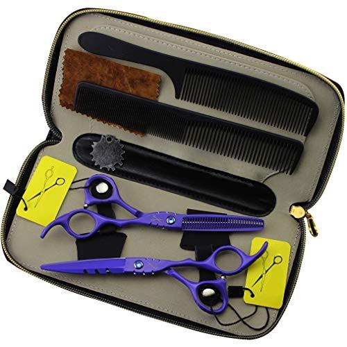 DANTB Tijeras de peluquería Profesional peluquería, Tijeras de Adelgazamiento de Acero Inoxidable...