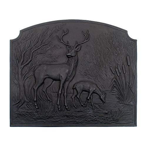 Sale!! Minuteman International Deer Cast Iron Fireback (Renewed)