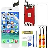 GULEEK Pantalla para iPhone 6s 4,7' Pantalla táctil LCD Pantalla de Cristal Reemplazo del Marco del digitalizador con Herramientas de reparación (Blanco)