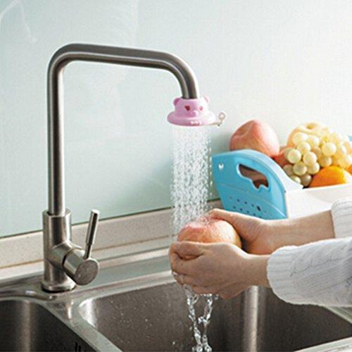 Yesiidor robinet d'eau Robinet mignon Dessin animé Arroseur de douche Splash filtre Valve D \