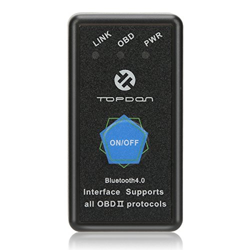 OBD2 Scanner Bluetooth TOPDON AutoMate Code Reader Compatible With Universal APP(Automate,Torque,Car Scanner ELM)For IOS & Android Devices
