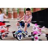 Bicicleta para niños, Bicicleta Triciclo para niños, Dos en uno de 3 a 6 años, el Scooter para bebés Masculino y Femenino se Puede Plegar,Azul