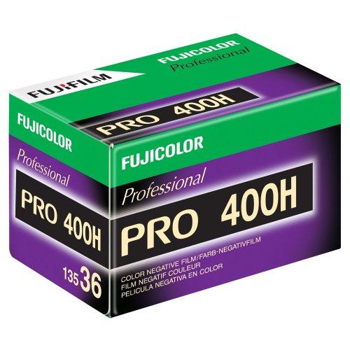 Fujifilm 16326078 pro 400H Color Negative Film 15473707 ISO 400, 36mm, 36 Exposures (Green/White/Purple)