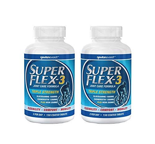 2 X SUPERFLEX-3 - Fórmula de triple concentración para el cuidado de las articulaciones (glucosamina, condroitina y MSM) - 300 tabletas