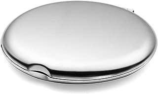 Custom Engraved Steel Compact Travel Mirror for Ladies, Makeup Purse Mirror Birthday Gift, Unbreakable Steel Mirror