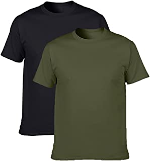 NewDenBer Men's Classic Basic Solid Ultra Soft Cotton T-Shirt | 1-2-4 Pack