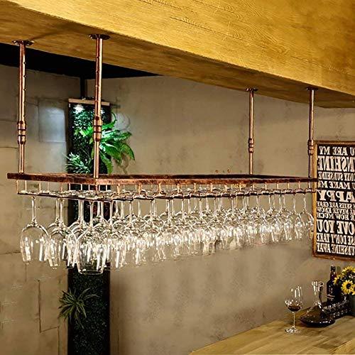 JHGJBJ Weinglashalter/Getränkehalter Weinregal Wand Küche Bar Bodega POR, Verstellbare Höhe: 30-60 cm, (Color : Brown)