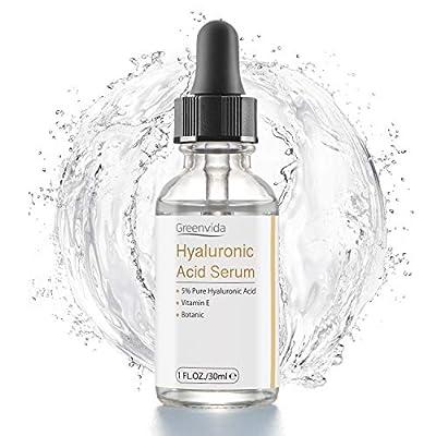 Hyaluronic Acid Serum for Skin - 100% Pure Organic HA, Anti-Aging Face Serum for Dry Skin, Fine Lines. Hydrating, Repairing, Replumping, Suitable for Sensitive Skin, 1 Fl. Oz