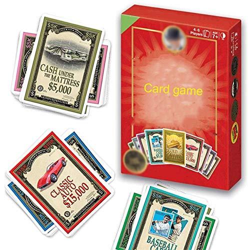 Decken Sie Ihr Vermögen Spielkarten Städtische Mutiny Coup Kartenspiel (4-6 Spieler), Spaß Familienfreundliche Set-Sammelspiel, for Kinder, Jugendliche und Erwachsene (Alter 7+)