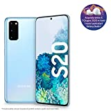 samsung galaxy s20 smartphone, display 6.2 dynamic amoled 2x, 3 fotocamere posteriori, 128 gb espandibili, ram 8 gb, batteria 4000 mah, hybrid sim/esim, [versione italiana], cloud blue