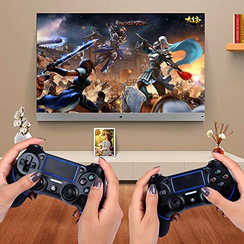 Senze PS4 Controller PS4 Wireless Bluetooth Gamepad Joystic Controller for Playstation 4 PS4 fat PS4 Slim PS4 Pro with Touch Panel, Dual Vibration,stereo headset jack, Six-axis Instant Sharing button