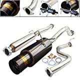 Fit 92-95 Honda Civic DX LX EX 96-00 Civic EX SI 2.25-2.5 Inch Stainless Steel Catback Exhaust System 4.5 Inch Gun Metal Muffler Tip
