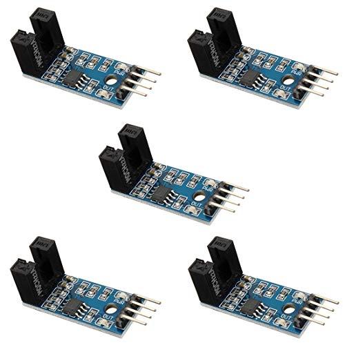 YOUMILE 5er Pack Slot Typ IR Optokoppler Geschwindigkeitssensor Modul LM393 für Arduino