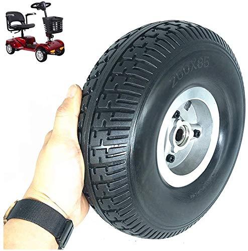 Neumáticos Scooter eléctrico, de 10 pulgadas neumático sólido a prueba de explosiones Ruedas, neumáticos resistentes a los pinchazos 4.10 / 3,50-4 antideslizante resistente al desgaste, Apto for perso