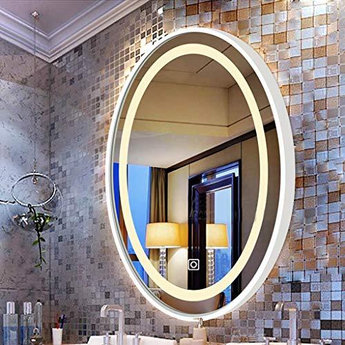 Wandspiegel met LED-verlichting, modern frame van betulla spiegel aan de wand ovaal groot, spiegel voor badkamer HD spiegel van Toeletta boven de wastafel