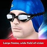 Warmiehomy Kurzsichtige Schwimmbrille (0 bis -800), kurzsichtige UV400-UV-Schutzbrille, mit verstellbarem Gummi-Gurt, Dicker Verstellbarer