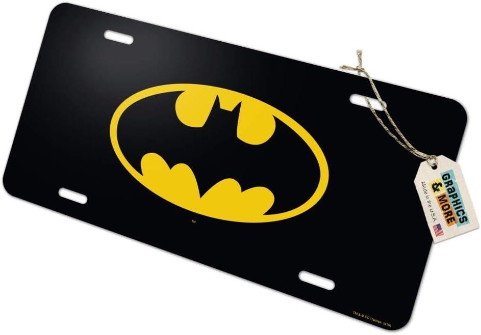 Graphics and More Batman Classic Bat Shield Logo Novelty Metal Vanity Tag License Plate