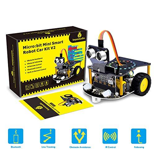 KEYESTUDIO for Micro:bit Mini Smart Robot Car V2.0 para BBC Micro bit Starter Kit (No Micro:bit Main Board)
