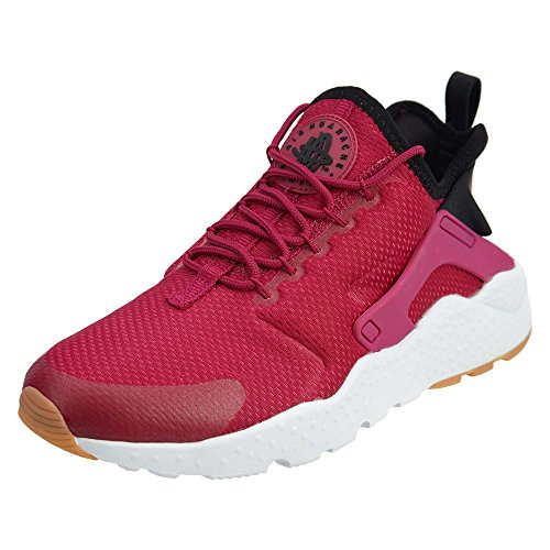 NIKE Womens Wmns Air Huarache Run Ultra, Sport Fuchsia/Black-Gum Yellow, 8 US