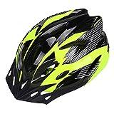 AIRGINE - Casco de bicicleta para hombre y mujer, ligero para bicicleta de montaña, 18 ventilaciones con correa ajustable, visión extraíble