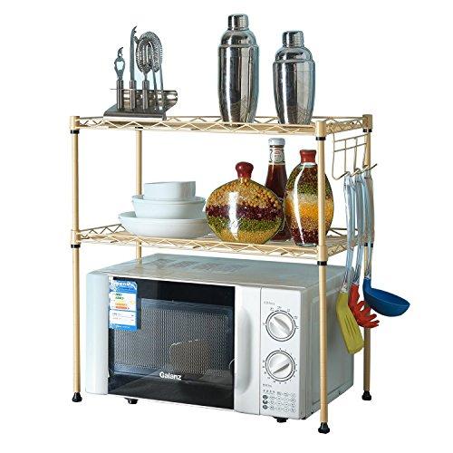Edge to Regal Schicht-Regal Mikrowelle Regale Küche Wohnzimmer Bad Lagerregal Flugzeug aristokratischen Gold Finishing