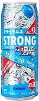 サンガリア ストロング チューハイタイム ゼロ ドライラムネ 490ml缶 1ケース24本