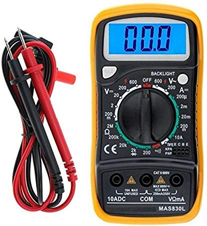 SCHOFIC Digital LCD Pocket Multi Meter/AC-DC Voltage/with Back Light (Yellow)