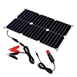 SUNKINGDOM 12 Volt 12v Solar Battery Charger, 18W Solar Car Battery Charger, Solar Trickle Charger, Solar Panel Battery Maintainer for Automotive, Motorcycle, Boat, Marine, RV