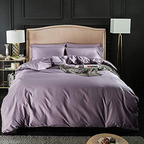 Home Bettwäsche 100% Baumwolle Twin/Queen Size Lila Serie, CrystalPurple, Queen/Full