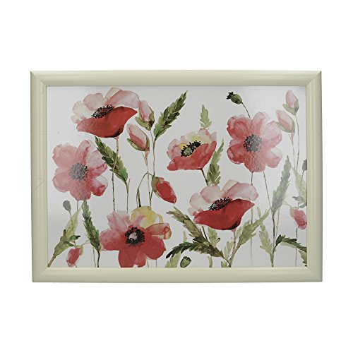 Creative Tops 'Watercolour Poppy' Gepolstertes Beanbag-Schoßtablett, 44 x 34 cm (17,5