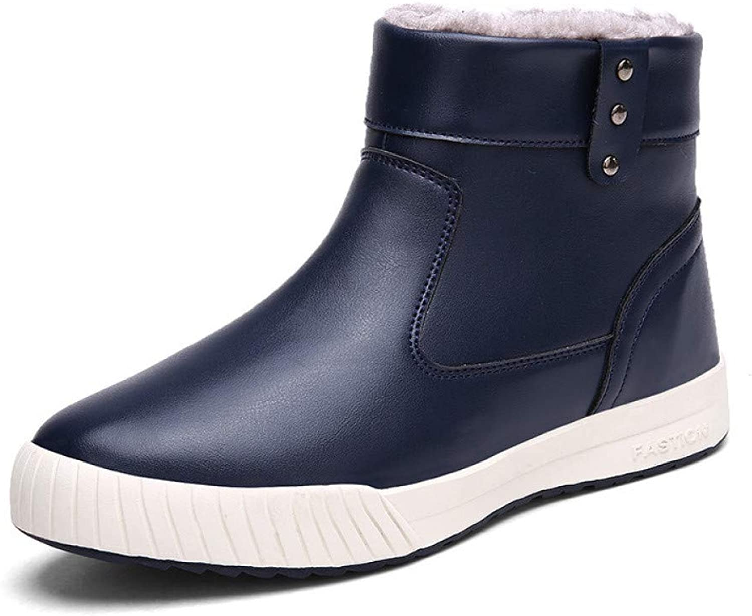 FHCGMX New Winter Snow Boots Men Fashion Casual Warm Mens Boots Big Size 39-45 Slip On Zip Rubber Mens Snow shoes