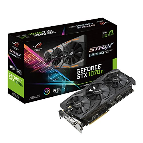 ASUS ROG Strix GeForce GTX 1070 Ti 8GB GDDR5 VR Ready DP HDMI DVI Gaming Graphics Card (ROG-STRIX-GTX1070TI-8G-GAMING)