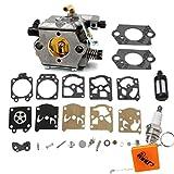 HURI Carburateur et Carb Reparation Joint Kit Bougies d'allumage pour Tronçonneuse Stihl 024 026...