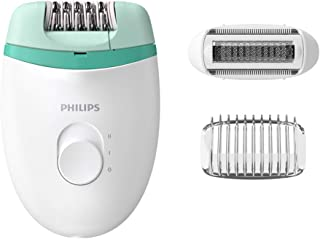 Philips BRE245/00 Satinelle Essential Corded Compact Epilator (White and Green)