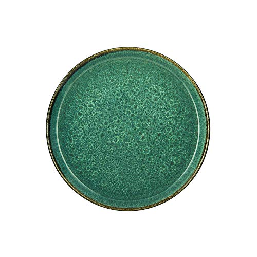 BITZ - Teller/Speiseteller/Essteller - Steingut - Ø 27 cm - grün/grün
