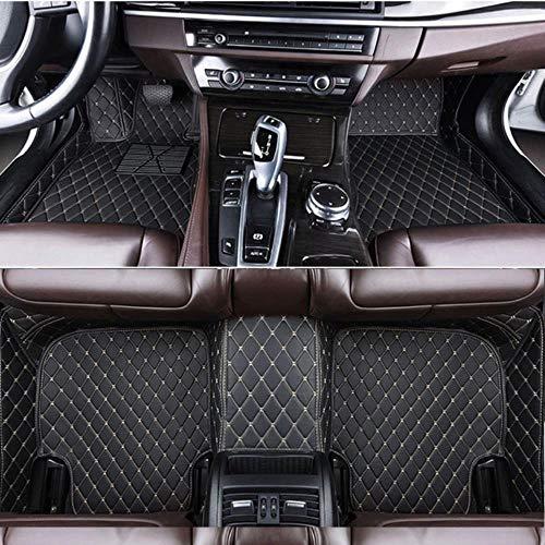 Hunulu Auto FußMatten FüR Mercedes Benz W203 W204 W205 C Klasse 180 200 220 250 300 350 C160 C180 C200 C220 C300 C350 rutschfeste Matte Automatten Autoteppich Autozubehör, Schwarz Beige,
