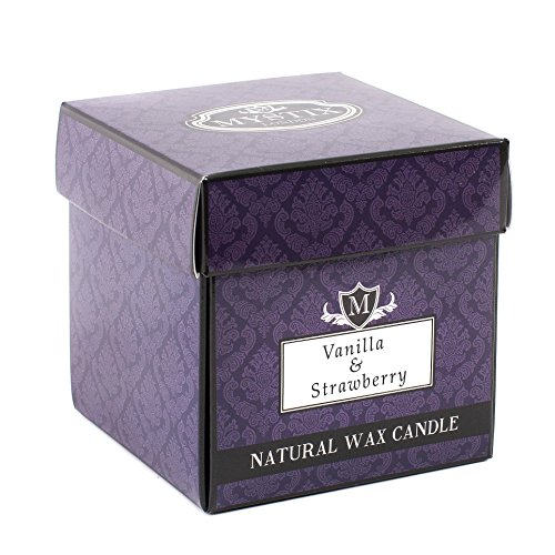 Mystix London Bougie parfumée Vanille et fraise 29 cl